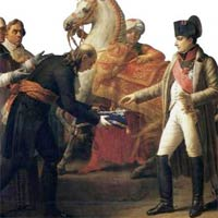 Napoleon getting the key to Vienna