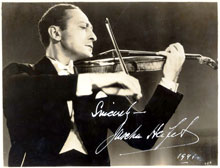 The Beethoven Violin Concerto has some great interpretations by Jascha Heifetz (pictured)