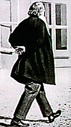 Brahms taking a walk, perhaps mulling over a problem in his First Symphony