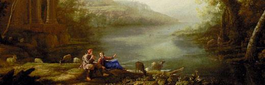 Daphnis et Chloe. Painting by Claude Lorrain.