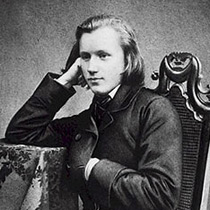 A young Johannes Brahms