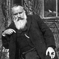 Johannes Brahms later in life, looking brooding and intelligent