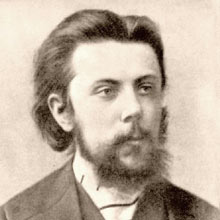 Modest Mussorgsky as a young man