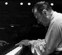 Pianist Claudio Arrau performing