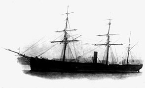 The clipper Rimsky-Korsakov sailed on