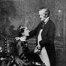 Wagner and his wife Cosima. Wagner's love was the inspiration for the Siegfried Idyll