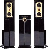 Steinway Lyngdorf high end stereo speakers