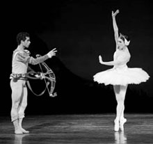 A scene from the Tchaikovsky Swan Lake ballet