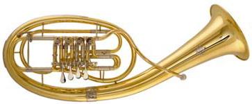 A shiny Wagner Tuba!