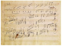 The Beethoven Moonlight Sonata manuscript!