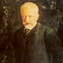 A portrait of Peter Tchaikovsky
