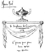 Ravel's original design for Le tombeau de Couperin
