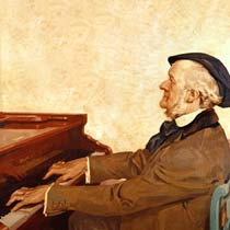 Richard Wagner on the piano