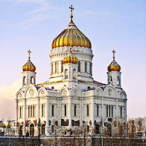 Tchaikovsky 1812 overture: the Temple of Christ in Moscow